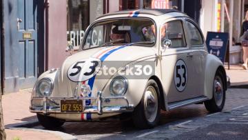 Herbie, The Love Bug Volkswagen Beetle Car In Brighton, UK
