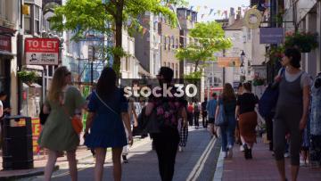 Pedestrians On Bond Street In Brighton, UK