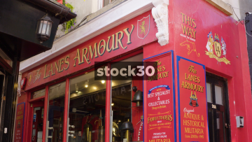 The Lanes Armoury Shop In Brighton, UK