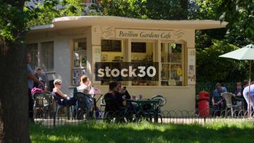 Pavilion Gardens Cafe In Brighton, UK