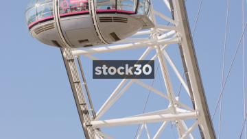 Close Up Shot Of People In Pods On The London Eye, UK