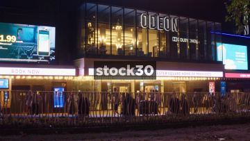 Odeon Luxe Cinema In Leicester Square, London At Night, UK