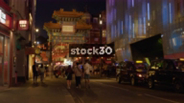 China Town In London At Night, UK