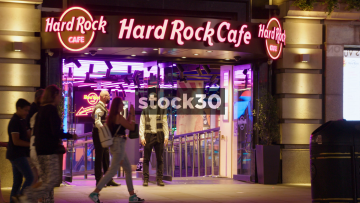 The Hard Rock Cafe In London At Night, UK