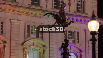 Eros Statue On the Shaftesbury Memorial Fountain In Piccadilly Circus, London, UK