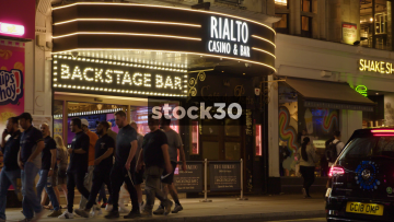 Rialto Casino And Bar In London, Wide And Close Up, UK