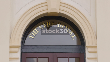 The Theatre Royal In Nottingham, Entrance Doors And Sign, UK