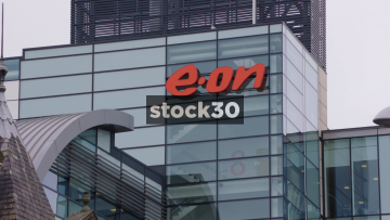 Eon Energy Office Building In Nottingham, Close Up And Wide, UK