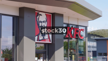 KFC Drive Thru, Close Up And Wide, Shots UK