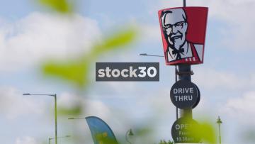 KFC Drive Thru Signage, Two Shots, UK