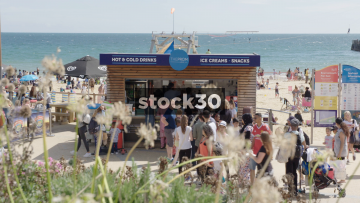 Ice Cream Shop On Bournemouth Beach, UK