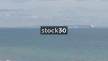 Bournemouth Beach and English Channel, UK