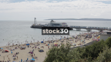 Bournemouth Pier and Beach, UK