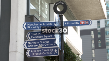 Manchester Piccadilly Sign, UK