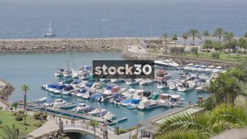 Harbour At Anfi Beach In Mogan, Las Palmas In Gran Canaria