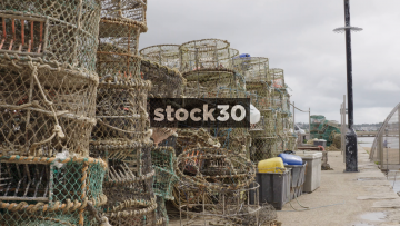 Fishing Nets And Cages By Poole Harbour, UK