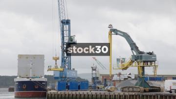 Cranes at Poole Harbour, UK