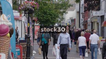 Pedestrians on Poole Highstreet, UK