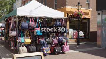 Poole Market Handbag Stall, UK