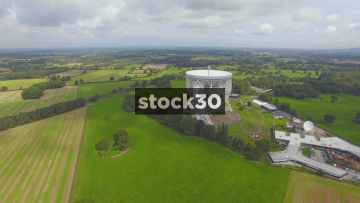 Jodrell Bank Forwards Flyover In Cheshire, UK