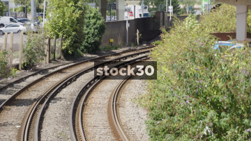 Train Passing In Poole, UK