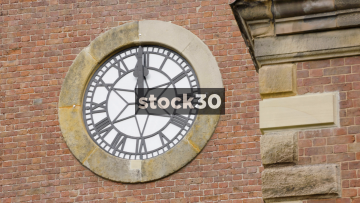 Clock At St John The Baptist Church In Knutsford, UK