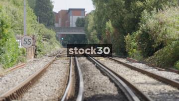 View Down Railway Line, UK