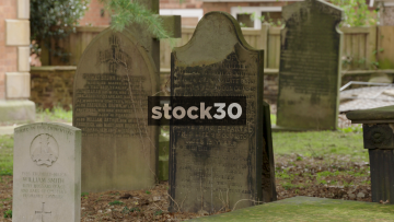 Graveyard At St John The Baptist Church In Knutsford, UK