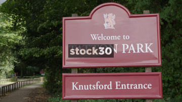 Tatton Park Entrance Signs. Knutsford, UK
