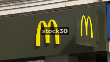McDonald's, Manchester. Close Up On Logo. UK