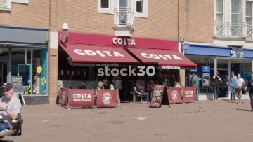 Costa Coffee In Poole, UK
