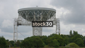 Close Up Of The Lovell Radio Telescope At Jodrell Bank In Cheshire, UK