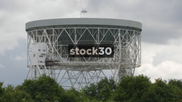 Extremely Close Shot Of The Lovell Radio Telescope At Jodrell Bank In Cheshire, UK