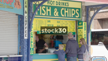 Fish And Chip Shop In Poole, UK