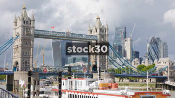 Tower Bridge And Iconic London Buildings, UK