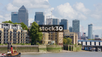 View Of Canary Wharf Buildings In London, UK