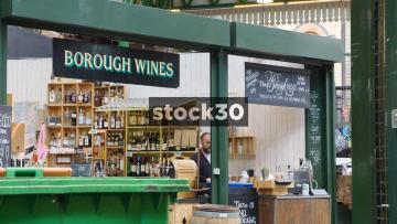 Borough Wines At Borough Market In London, UK