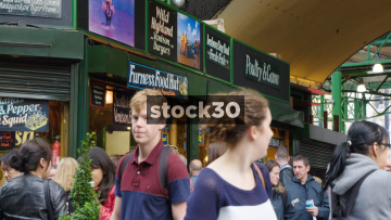 Furness Food Hut At Borough Market In London, UK