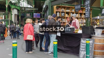 Food Stall At Borough Market In London, UK