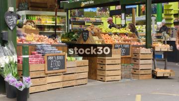 Fruit Stall At Borough Market In London, UK