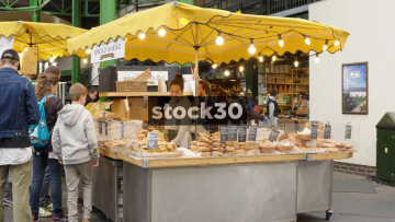 Bread Stall At Borough Market In London, UK