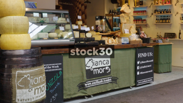 Bianca Mor Cheese Stall At Borough Market In London, UK