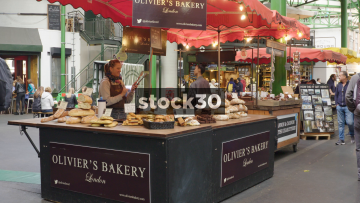 Oliver's Bakery At Borough Market In London, UK