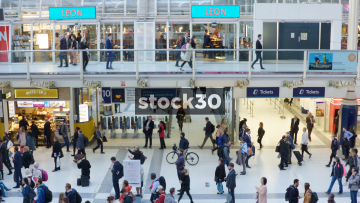 Liverpool Street Station Interior In London, UK