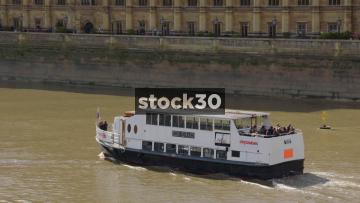 King Edward Cruise Ship On The Thames In London, UK
