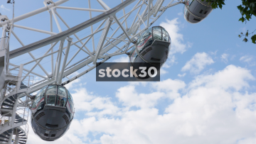 Close Up Shot On A London Eye Pod, UK