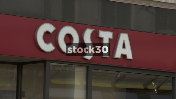 Costa Coffee, Manchester. Close Up On Sign. UK