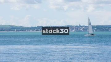 A Sailboat On The Solent, UK