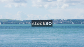 The Solent Between Portsmouth And The Isle Of Wight, UK