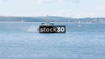 A Hovercraft Approaching In Portsmouth, UK